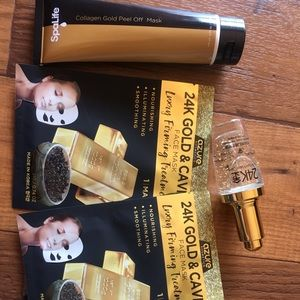 24K gold and caviar skin care products bundle